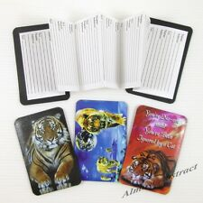 Tiger Credit Card Sized Magnetic Address Book (Your Choice of Images) ~ New