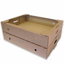 "25.5 x 19.5 x 5"" Cardboard Bread, Vegetable, Flower Produce and Storage Trays"