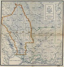 1908 LARGE COUNTY WINE MAP NAPA VALLEY CALIFORNIA Largest Sizes