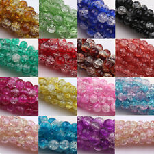 Wholesale 6MM-12MM Czech Glass Crackle Cracked Loose Spacer Round Craft Beads