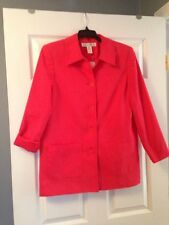 JESSICA HOLBROOK FULLY LINED RELAXED JACKET, SMALL, COLOR: WATERMELON RED, NWT