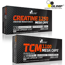 Creatine Monohydrate + Tri Creatine Malate 60/120/180 Caps. Muscle Growth Pills
