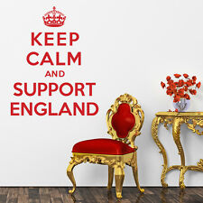 Keep Calm And Support England - Wall Sticker Art Decal Vinyl Quote