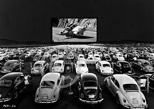 1969 VW BUGS AT DRIVE-IN THEATER LAS VEGAS PHOTO Herbie the Love Bug