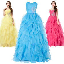 PRINCESS Formal Long Prom Bridesmaid Dresses Evening Party Wedding Pageant Gowns