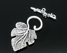 Wholesale Lots Silver Tone Grape Charm Toggle Clasps Findings