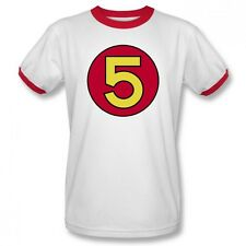 NEW Speed Racer Mach 5 Logo Number Car Retro TV Show Adult Ringer T-Shirt Top