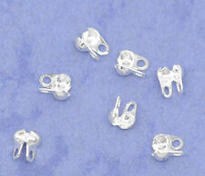 Wholesale Lots Silver Plated Calottes End Crimps Beads Tips 4x3.5mm