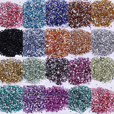 2000pcs 2/3/4/5mm Faceted Crystal Rhinestone Half Round Flatback Beads For DIY
