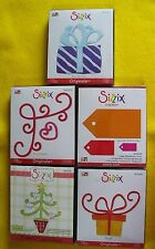Sizzix Original Dies; Gift #2, Christmas Tree, corner design, present, Tags