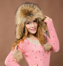 New Russian Style Women's 100% Real Fox Fur Hat Girl's Fashion Warmer Cap 6Color