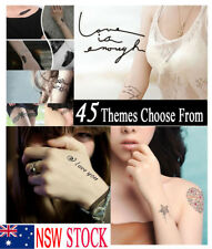45 Styles Trendy Temporary Small Skin Fake Tattoo Tatoo Men Women Party Body Art