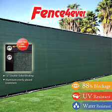 Green 5'x50' 5ft Fence Windscreen Privacy Screen Shade Cover Mesh Yard Fabric