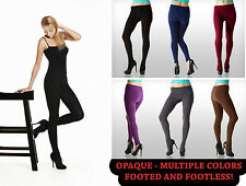 NEW SEXY WOMEN FLEECE TIGHTS PANTS FOOTED/FOOTLESS - REGULAR/PLUS SIZE!