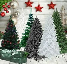 6FT,7FT 180CM Christmas Tree Bushy Pine Look With Metal Stand Green/Black/White