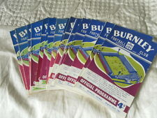 BURNLEY HOME PROGRAMMES FROM 1961/2 CHOOSE FROM LIST