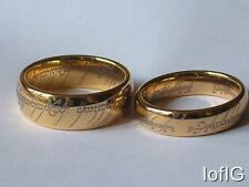 Tungsten Gold Plated, The One,  Lord Of The Rings, Men Women, Wedder, New