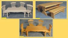 dolls house miniature 1:12 scale  kitchen  table & chairs 3 to choose from.