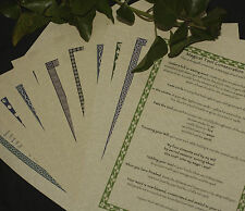 A4 Pagan Information Sheets on Parchment paper - for Book of Shadows - Wicca
