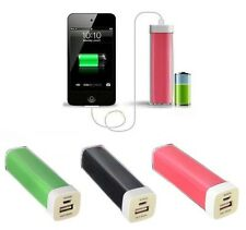 2600MAH LIPSTICK EXTERNAL PORTABLE POWER BANK BATTERY CHARGER FOR MOBILE PHONES