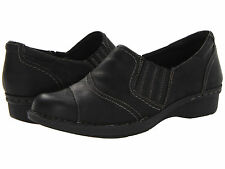 Women Clarks Whistle Role 67182 Black Leather Medium 100% Authentic Brand New