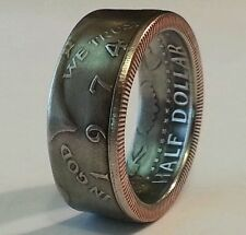 Coin rings made from Kennedy JFK half dollars in size 8-14 and half sizes