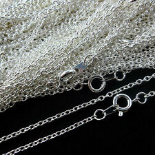 Top Quality.925 Sterling Silver Plated Necklace Trace Chain 16 18 24 Inch