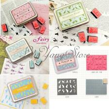 Lovely Cute DIY Drawing Art Rubber Stamps Set In Tin Case Kid Children Toy Style