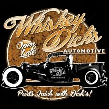 Classic Car Tshirt Whiskey Dicks Automotive Hot Rod Parts Show Outlaw Moonshine