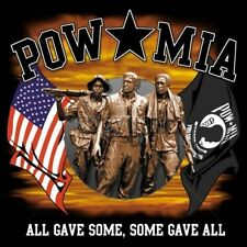 POW MIA Tshirt All Gave Some Some Gave All Memory Stone Soldier Veteran USA Flag