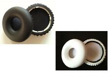 Black White Ear Pads Cushions For Beats By Dr. Dre Solo HD Wireless Headphones