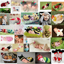 Baby Girls Boy Newborn-24M Knit Crochet Clothes Photo Prop Hat Cap Outfits Set