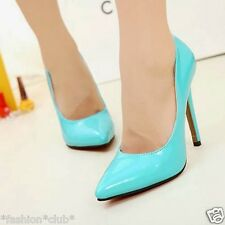 Women's New Sexy Pointed Toe Bright Color High Heels Stilettos Pump Court Shoes