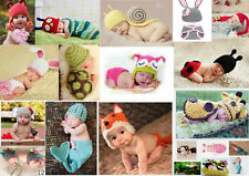 Baby Girls Boy Newborn-24M Knit Crochet Costume Photo Prop Hat Cap Outfits Set