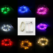 3m 10ft 30 LEDS Silver Copper Wire LED Starry Light String Fairy Battery Powered
