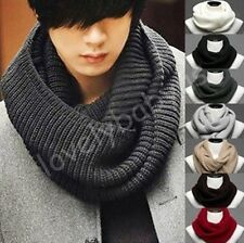 Men's Hot Soft Cotton knit Warm Winter & Spring  Neck Round Circle  Scarf Shawl