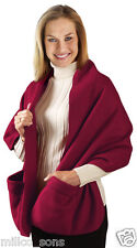 SUPER SOFT FLEECE SHOULDER COZY SCARF SHAWL WITH POCKETS
