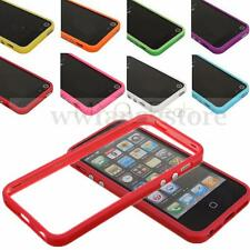 Etui Housse Coque Bumper Frame Case Silicone Gel Metal Bouton Pour iPhone 5 4 S
