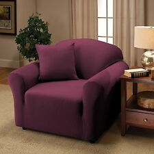 PURPLE JERSEY CHAIR STRETCH SLIPCOVER, COUCH COVER, CHAIR LOVESEAT SOFA RECLINER