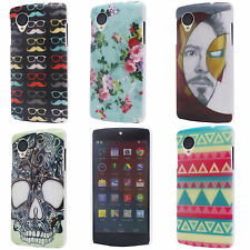 Nice Skull Triangle Flower Face Image Hard Back Cover Case for LG Google Nexus 5