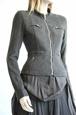 NEW RICK OWENS FITTED WOOL MOTORCYCLE JACKET RO3701