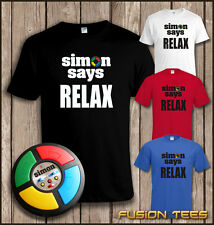 Funny 80s Mash Up - Frankie Goes To Hollywood / SIMON SAYS RELAX T SHIRT