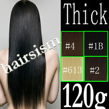 "22""24""26""30"" DELUXE DOUBLE WEFT THICK FULL CLIP IN REAL HUMAN HAIR EXTENSIONS"