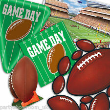 American Football GAME DAY Party Green Tableware Decorations One Listing PS