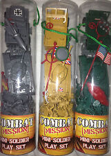 Combat Mission Toy Soldiers Mini Play Sets 3 Countries To Choose From! Free P&P
