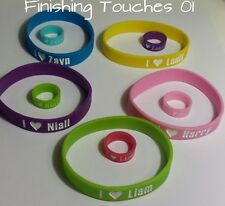 One Direction Bracelet and Ring (size 5) Silicone
