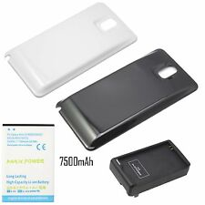 7500mAh Extended Battery + Cover For Samsung GALAXY Note 3 III N9000 + Charger
