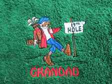 19th Hole Embroidered Personalised Golf Towel