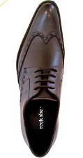 US 8-11 ROCK Men's Genuine Leather Italian Wingtip Dress Casual Oxford Shoes