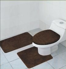 3 PCS BATHROOM RUG, CONTOUR RUG AND LID COVER SET, HAILEY BATHROOM RUG SET, CH